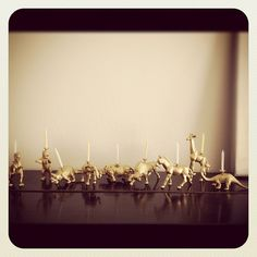 DIY gold candleholders