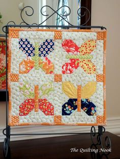 Mini Quilts + A Quilt Tip | A Quilting Life - a quilt blog