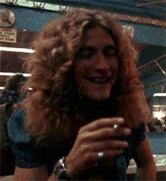 Robert Plant having a laugh