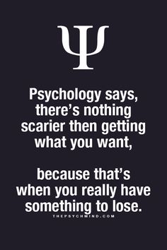 thepsychmind: Fun Psychology facts here! something to lose
