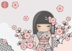 Image result for Kokeshi doll clipart wink