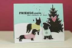 Winter Friends Card by Erin Lincoln for Papertrey Ink (October 2013)