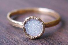 Druzy Gold Ring