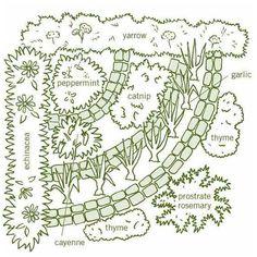 Herb Garden Pallet, Herb Garden Design, Garden Design Plans, Pallets Garden, Herbs Garden, Garden Ideas, Garden Hoe, Garden Guide, Urban Gardening