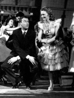 "James Stewart and Donna Reed do the Charleston in ""It's a Wonderful Life""! #classic #Christmas #movie"