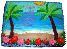cakes, tropical   Caroline's Cakes' Specialty Cakes Hawaiian Luau Party, Hawaiian Birthday, Hawaiian Theme, Luau Birthday, Hawaiian Cakes, Tropical Party, Luau Cakes, Ocean Cakes, Beach Cakes