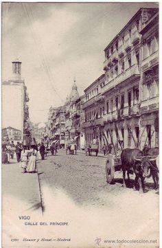 Postal de Vigo: Calle del Príncipe. Aproximadamente de principios del siglo pasado (anterior a 1905).