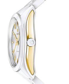 Rado Women's Swiss Automatic Hyperchrome White High-Tech Ceramic Bracelet Watch 36mm R32257012 - White