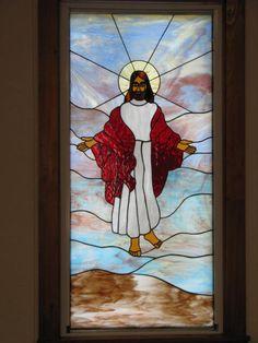 Ascension -Bethel Chapel Church, Poplar Bluff, MO 2005 & 2008, by Sandy (Johnson) Burnett, (formerly Glass with a MIssion, Art-Attack-Studios,  GlassMoose.com)