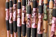 Pink Camo Fishing Poles!