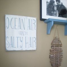 A perfect saying for any room in the beach house   Sign measures 11.5 x 11.5 on knotty pine  Text Color is  Vintage ( grayish blue) Background is