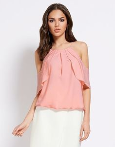 Womens pastel rose star by julien macdonald flutter sleeve halter top from Lipsy - £38 at ClothingByColour.com Pastel Roses, Julien Macdonald, Soft Summer, Summer Colors, Lipsy, Flutter Sleeve, Off Shoulder Blouse, Stars, My Style