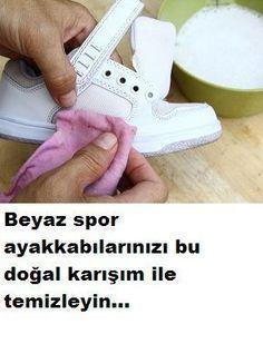Beyaz ayakkabı temizliği nasıl olmalı Ayakkabılarınızı tertemiz yapacak bu doğal karışımı kullanınız........