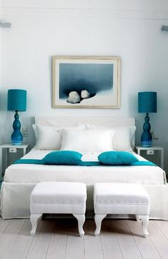 How to find discounts on home decor and furniture house design home design interior room design designs Bedroom Turquoise, House Of Turquoise, Turquoise Accents, Blue Accents, Turquoise Highlights, Turquoise Furniture, Home Interior, Interior Design, Modern Interior