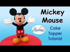 Mickey Mouse Clubhouse (Cake Toppers) / Cómo hacer la Casa Club de Mickey para tortas - YouTube
