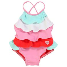 Kenzo Kids - Swimsuit with multicoloured flounces - 30417 Kids Swimwear, Swimsuits, Toddler Outfits, Kids Outfits, Kenzo Kids, Baby Kids, Kids Fashion, One Piece, Kids Clothing