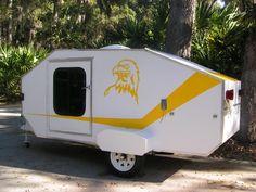 Homemade teardrop trailer.