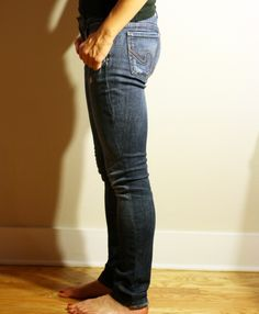 DIY Skinny Jeans, from WhollyKao -- for jeans that fit around your butt but are too big below