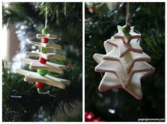 Clay Christmas Tree Craft - made using homemade clay!