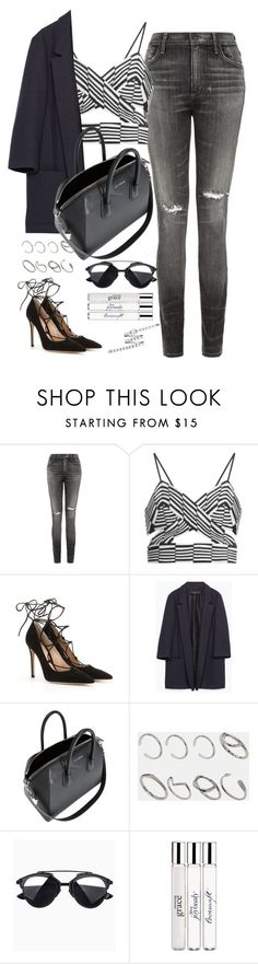 """Untitled#3869"" by fashionnfacts ❤ liked on Polyvore featuring Citizens of Humanity, Alexander Wang, Gianvito Rossi, Zara, Givenchy, ASOS, philosophy and Chanel"