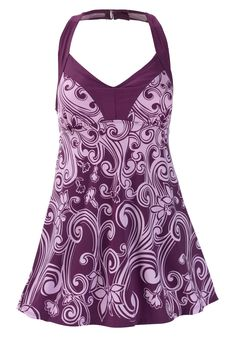 H-back empire swimdress by Swim 365® | Plus Size Swim Dresses | Woman Within