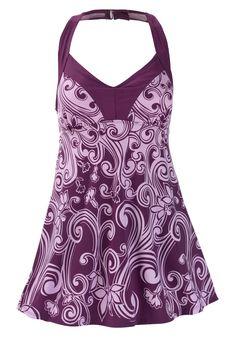 H-back empire swimdress by Swim 365®   Plus Size Swim Dresses   Woman Within