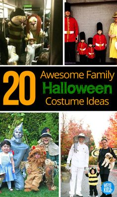 20 Awesome Family #Halloween #Costume Ideas