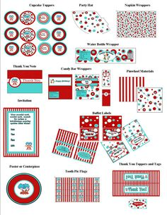 Dr. Seuss Birthday Birthday Package Thing 1 por BunkarooDesigns