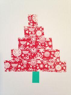 Christmas card DIY washi tape