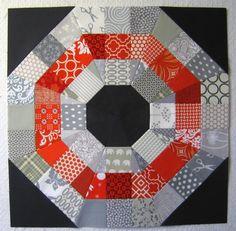Free Pattern - Octagonal Orb Block by Elizabeth Hartman