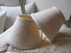 Pair Candle Clip on Wall Lights Shabby Chic Kate Foreman