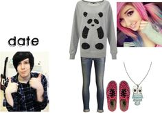 """""""Date with Phil Lester"""" by kat-ever-after ❤ liked on Polyvore"""