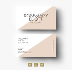 Two colour Business card template by Emily's ART Boutique  on Creative Market