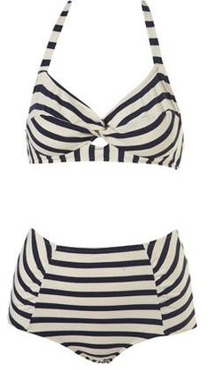 40s style bikini from Topshop -- I have a thing for stripes