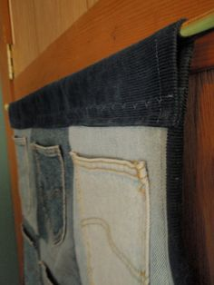 When I get my jean quilt done this is a great idea to use the pockets leftover from jeans