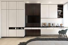 Study Design, Study Areas, Built In Desk, Bedroom Wardrobe, Interior Decorating, Interior Design, Small Living Rooms, Small Apartments, Luxury Bedding