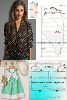 Moldes Moda por Medida | шитье | Постила