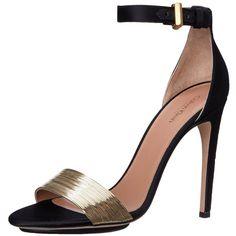 Womens Sandals Calvin Klein Laken Black Leather