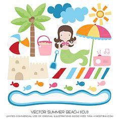 Vector Summer - Beach {CU}