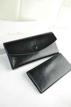 Handmade leather long wallet cowhide Wallet by FolkCraftwork