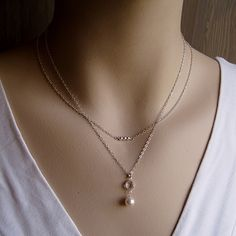 3 Wishes Necklace in Rose Gold, Gold or Silver from Susi D. Jewelry