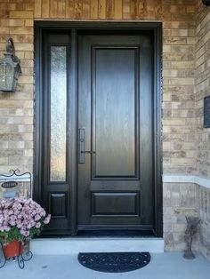 Executive Fiberglass Door 2 Panel Fiberglass Door With Frosted Glass  Backing And Side Lite Installed