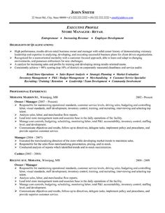 find this pin and more on management resume templates samples - It Sample Resume