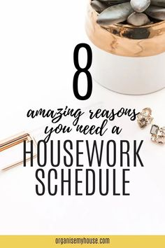 Creating a housework schedule isn't one of the most exciting things in the world, but it makes SO MUCH DIFFERENCE to how easy it is to run your home. Homemaking is simple when you have routines and a schedule in place - and this article will give you the right motivation to do just that. Housework Schedule, Household Chores, Homemaking, Home Organization, Declutter, Cleaning Hacks, Routine, Good Things, Motivation