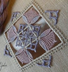 just photo for inspiration. Wish I could find a tutorial fo Hardanger Embroidery, Ribbon Embroidery, Filet Crochet, Embroidery Designs, Drawn Thread, Lacemaking, Embroidery Needles, Satin Stitch, Cutwork