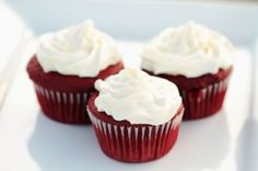 mini red velvet cupcakes…cute for Christmas!