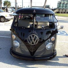 Grey/Black VW Bus