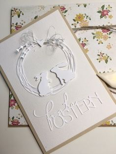Miss Zaubärhaft …: Rabbit Festival - Modern Easter Greeting Cards, Greeting Cards Handmade, Wedding Anniversary Cards, Wedding Cards, Karten Diy, Easter Art, Halloween Cards, Card Tags, Valentine Day Cards