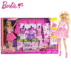 Barbie Doll Toys Princess Designer Collection Gift Box Set With Barbie Clothes Dress For Baby Girls Y7503