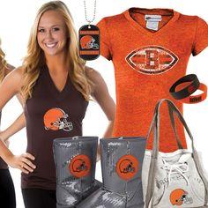 Cleveland Browns Historic Logo Melange Hoodie - Ash